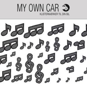 Bil klistermærker - grå noder