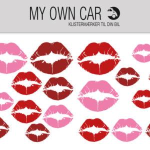 Bil klistermærker - læbestift mund