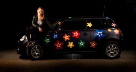 Bil klistermærker med blomster
