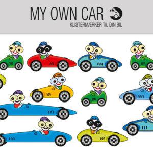 Bil klistermærker med racerbiler
