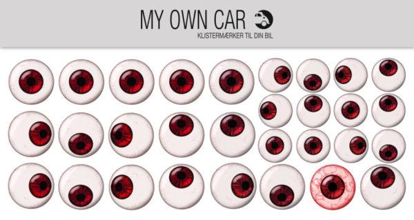 Bil klistermærker - røde øjne