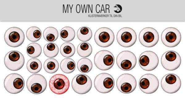 Klistermærker til bil - brune øjne