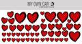 Klistermærker til bil med hjerter