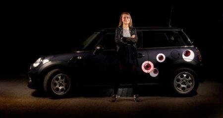 Klistermærker til bil - røde øjne