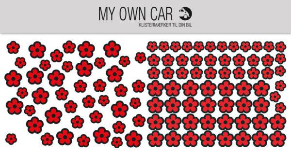 Klistermærker til bil - røde blomster