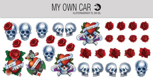 Klistermærker til bil - tatoveringer