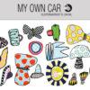 Stickers til bil - former