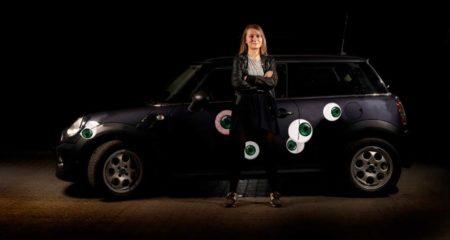 Stickers til bil - grønne øjne