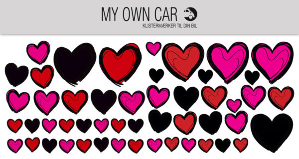 Stickers til bil - hjerter