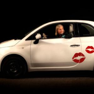 Stickers til bil - læbestift mund