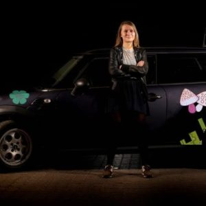 Bil klistermærker - svampe og blomster