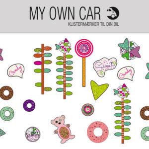 Klistermærker til bil - Sweet