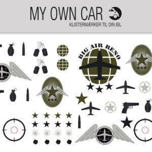 Klistermærker til bil- army