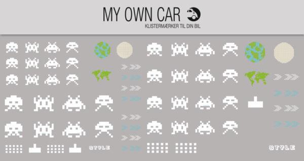Klistermærker til bil - arkade spil