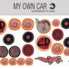 Klistermærker til bil - aboriginal rockart