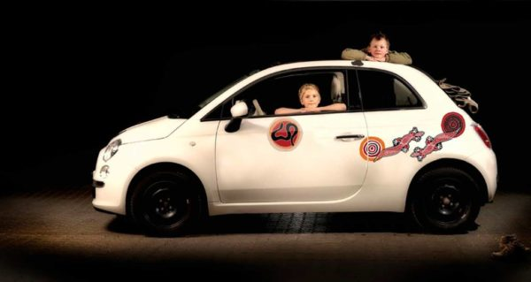 Bil klistermærker - aboriginal rockart