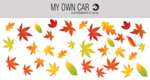 Bil klistermærker med efterårsblade