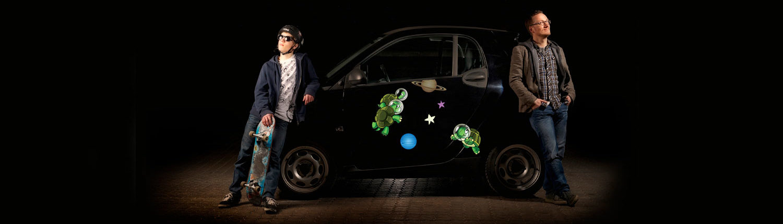 Klistermærker til bil med dyr og figurer