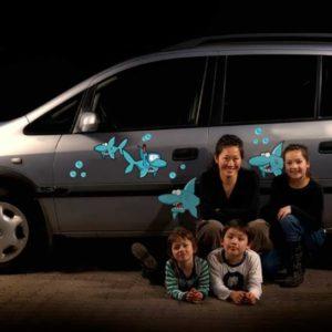 Sklistermærker til bil med hajer