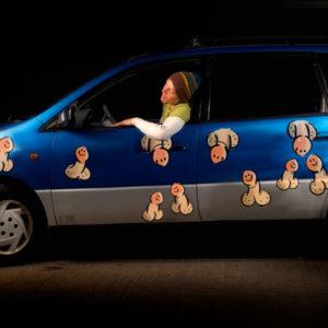Bil klistermærker - pjorte