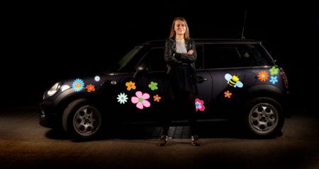 Klistermærker til bil - blomster og bier