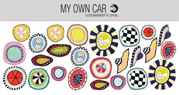 Klistermærker til bil - organiske-cirkler