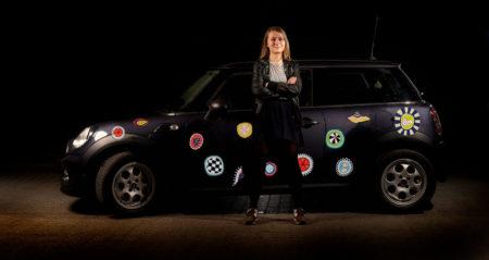 bil klistermærker med organiske cirkler