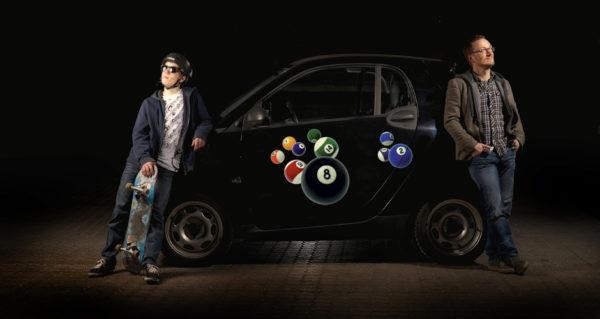 Bil klistermærker -BillardBaller