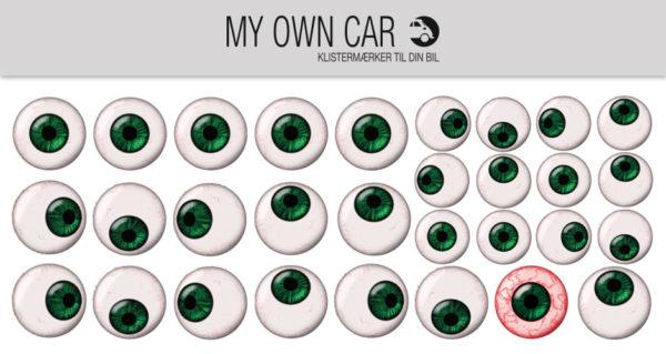 Bil klistermærker - grønne øjne