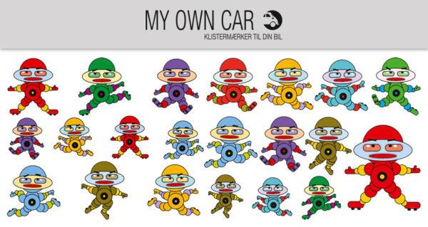 Bil klistermærker - robotter