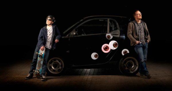 Bil klistermærker med brune øjne