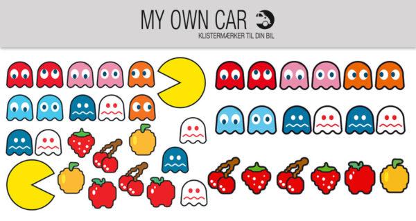 Klistermærker til bil - Pacman