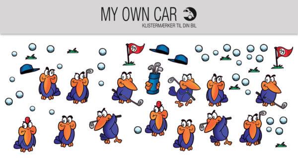 Klistermærker til bil - birdie