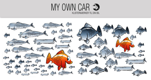 Klistermærker til bil - fisk