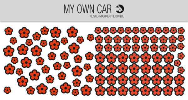 Klistermærker til bil - orange blomster