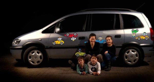 Klistermærker til bil - racerbiler
