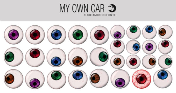 Stickers til bil - øjne farvede