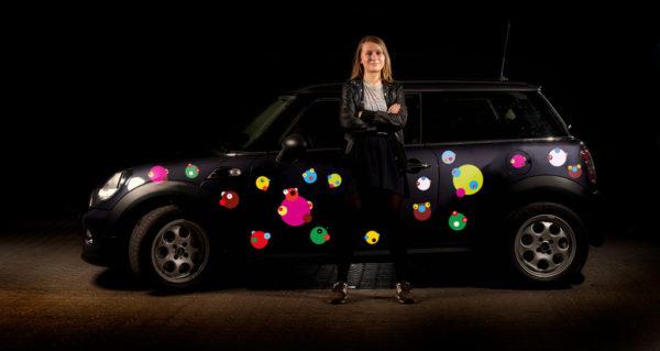 Stickers til bil - faceball