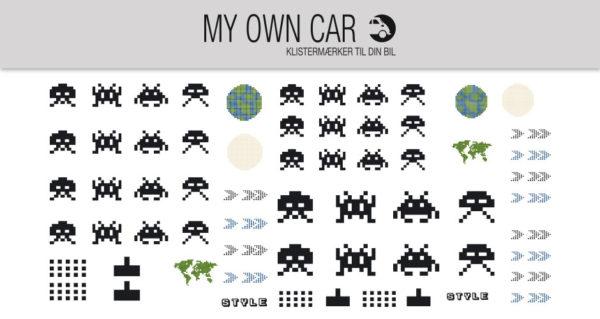 Bil klistermærker - arkade spil