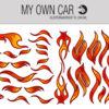 Bil klistermærker - flammer